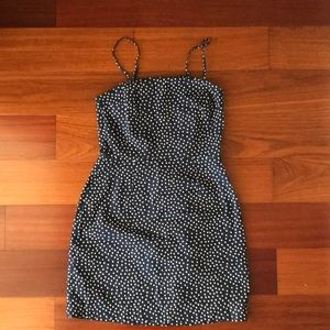 H&M Navy Polka Dot Dress